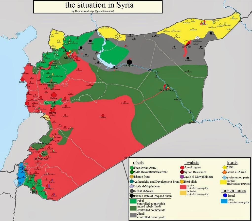 syrien karta Fredrik Malm: Karta över läget i Syrien syrien karta