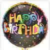 Balon Foil Bulat Motif HAPPY BIRTHDAY / Balon Foil Bulat HBD (08)