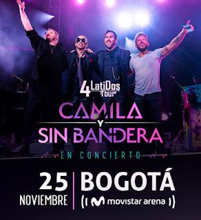Concierto de CAMILA Y SIN BANDERA en Colombia
