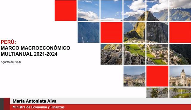 Vídeo confrerencia del Marco Macroeconómico Multianual 2021-2024, María Antonieta Alva