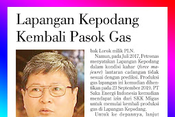 Kepodang Field again supplies gas