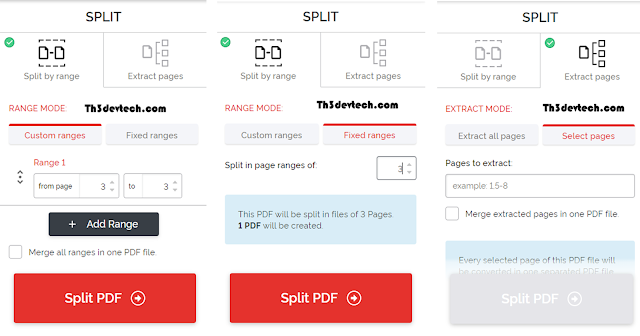 اداة Split PDF