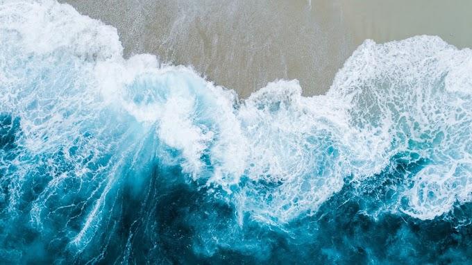 Papel de Parede Ondas do Mar Agitado