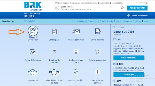 Consulte Fatura e Gere Boleto da 2Via BRK Ambiental - Palmas/TO