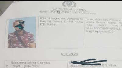 Direktur PT. TFK Ternyata DPO Krimsus Polda Sumbar