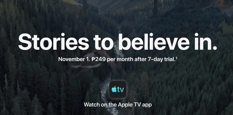 Apple TV+ to Launch in PH on November 1, Priced
