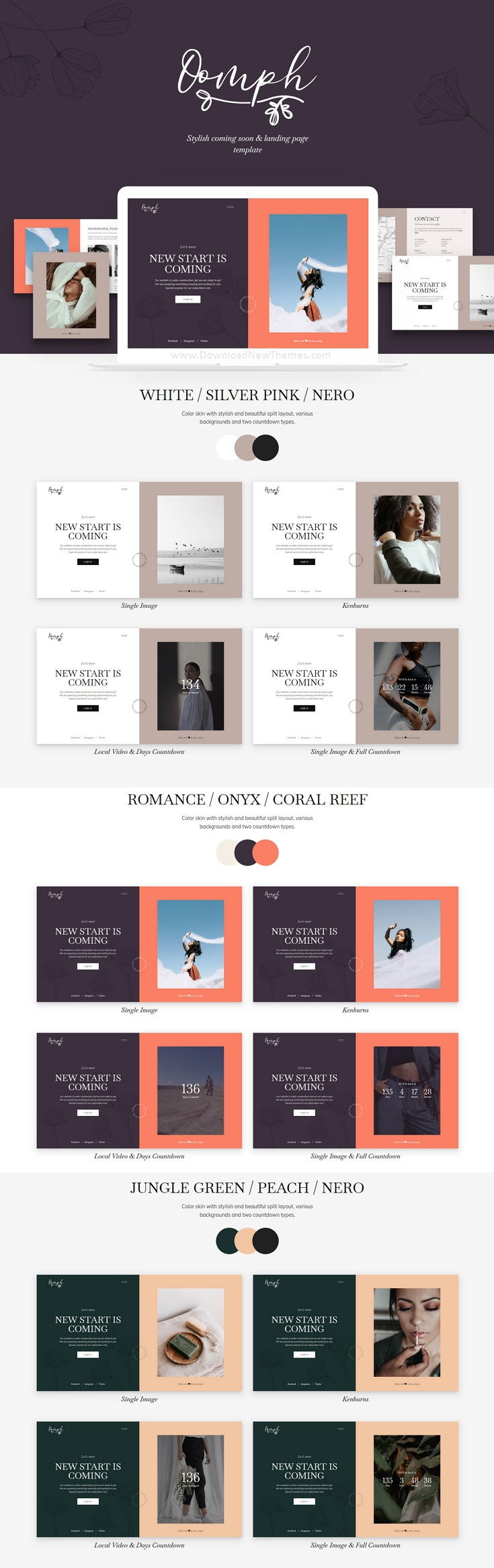 Coming Soon and Landing Page Template