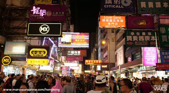 Mercado nocturno Hong Kong