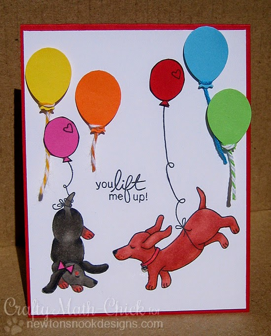 Lift me up Doxie card by Crafty Math Chick | Delightful Doxies by Newton's Nook Designs