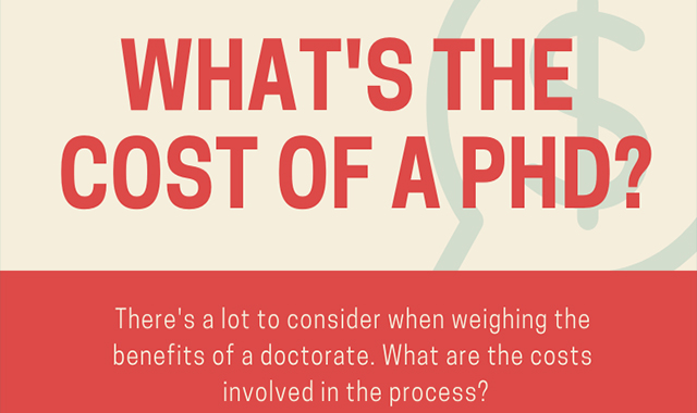 What's The Cost of a PHD? #infographic