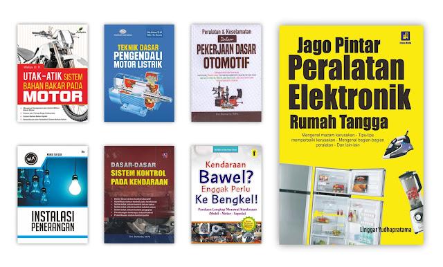 Buku Teknik - Elektro, Mesin, Otomotif dan Ilmu Terapan Untuk Koleksi Perpustakaan Desa