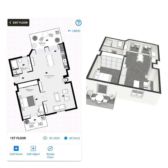 cara membuat desain rumah di hp