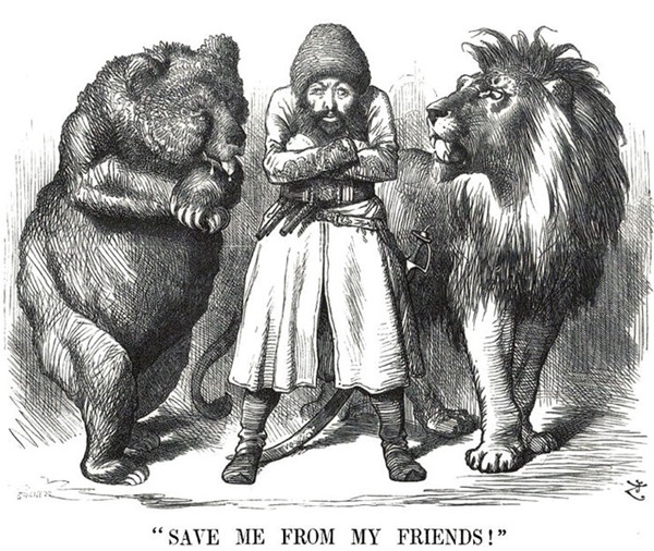 British Lion and Russian Bear of The Great Game