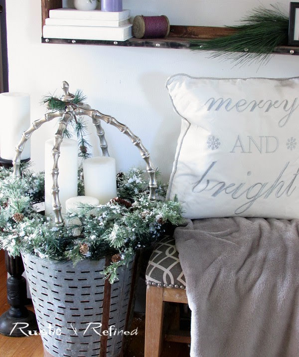 Christmas decor in the entryway