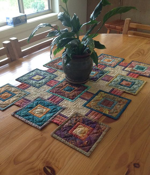 Stepping Stones Table Runner designed by Mabeth Oxenreider