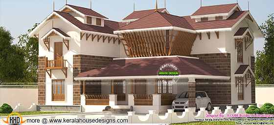 Traditional style luxurious house