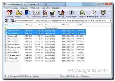WinRAR 5.50 Final - Выделяем нужные для распаковки файлы