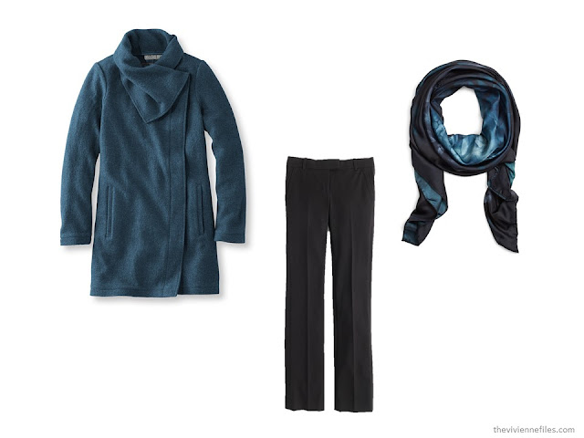 What Women were Wearing in Paris, Spring 2016 - dark blue and black