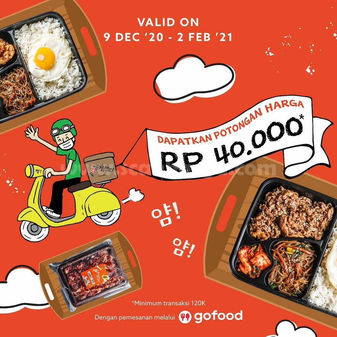 Promo Pochajjang Potongan Rp. 40.000 via GOFOOD