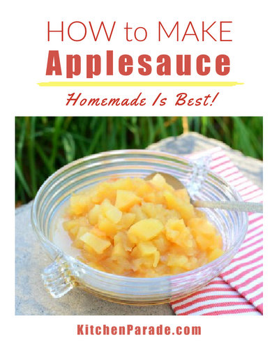 How to Make Homemade Applesauce, another simple seasonal recipe ♥ KitchenParade.com. No added sugar!