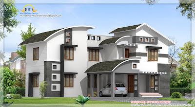 Contemporary Villa Design 2850 Sq Ft Kerala Home