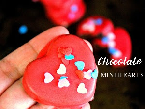 Chocolate Mini Heart Cakes