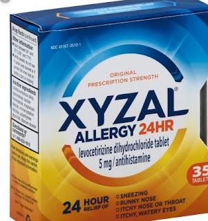 حبوب زيزال Xyzal 5mg Tablets ليفوسيتريزين