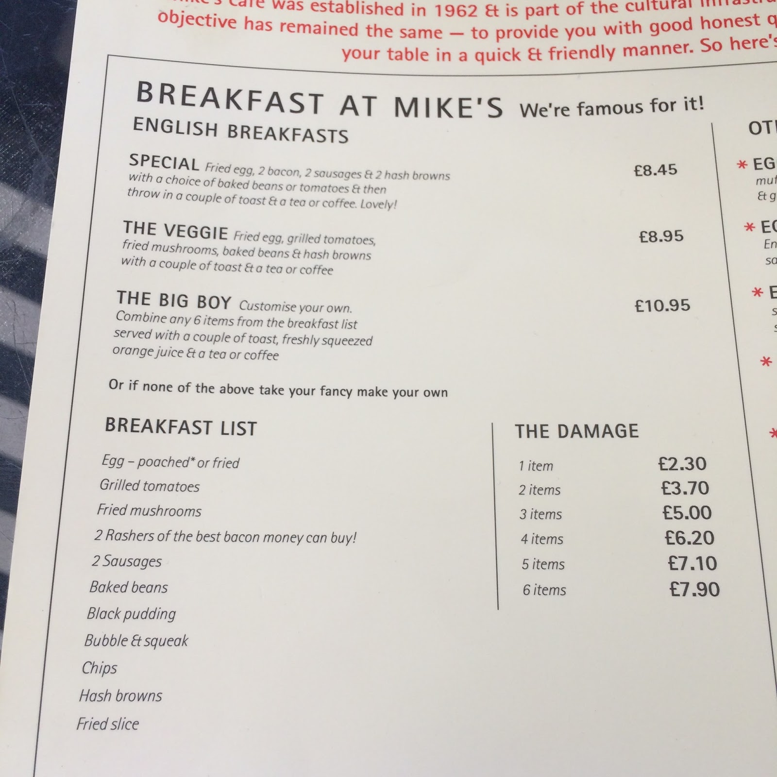 The Fry up Inspector: Mike\'s Cafe - London