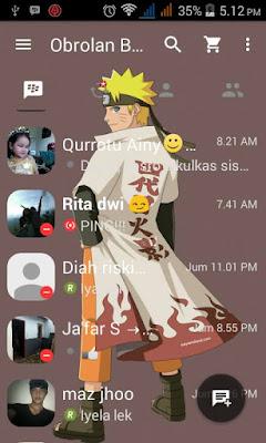 BBM Mod Naruto APK V3.0.0.18 Terbaru 2016