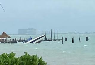 Cancún: Tormenta Gamma hundió un yate y 3 lanchas