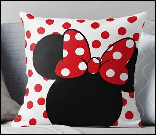 Mrs. Mouse Throw Pillow MINNIE MOUSE PILLOWS MINNIE MOUSE BEDDING MINNIE room decor