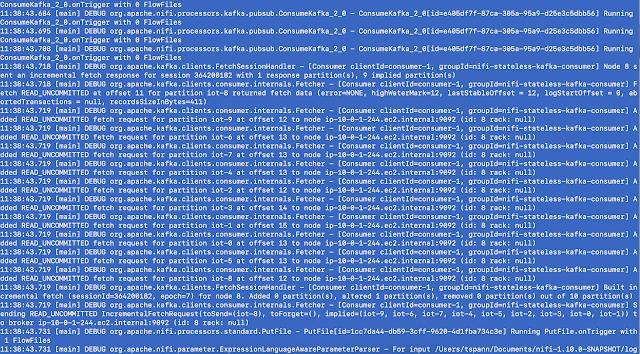Command line output
