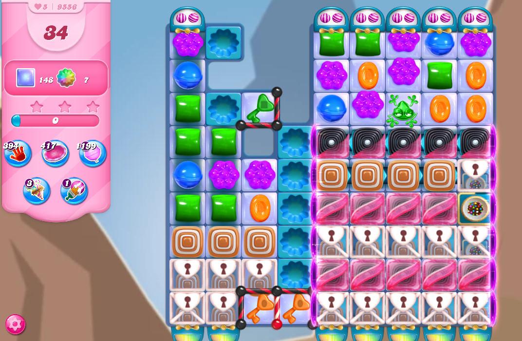 Candy Crush Saga level 9556