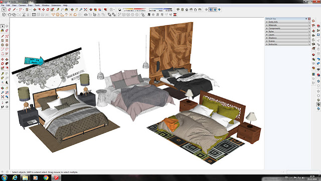 Bed Collection Sketchup Model , 3d free , sketchup models , free 3d models , 3d model free download