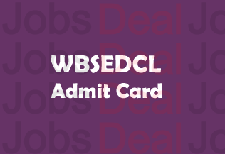 WBSEDCL Admit Card 2017