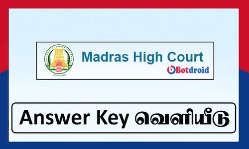 Madras High Court office assistant answer key 2021 download