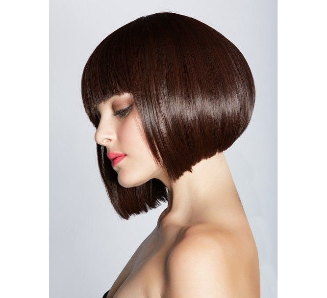 classic a-line bob with bangs haircut