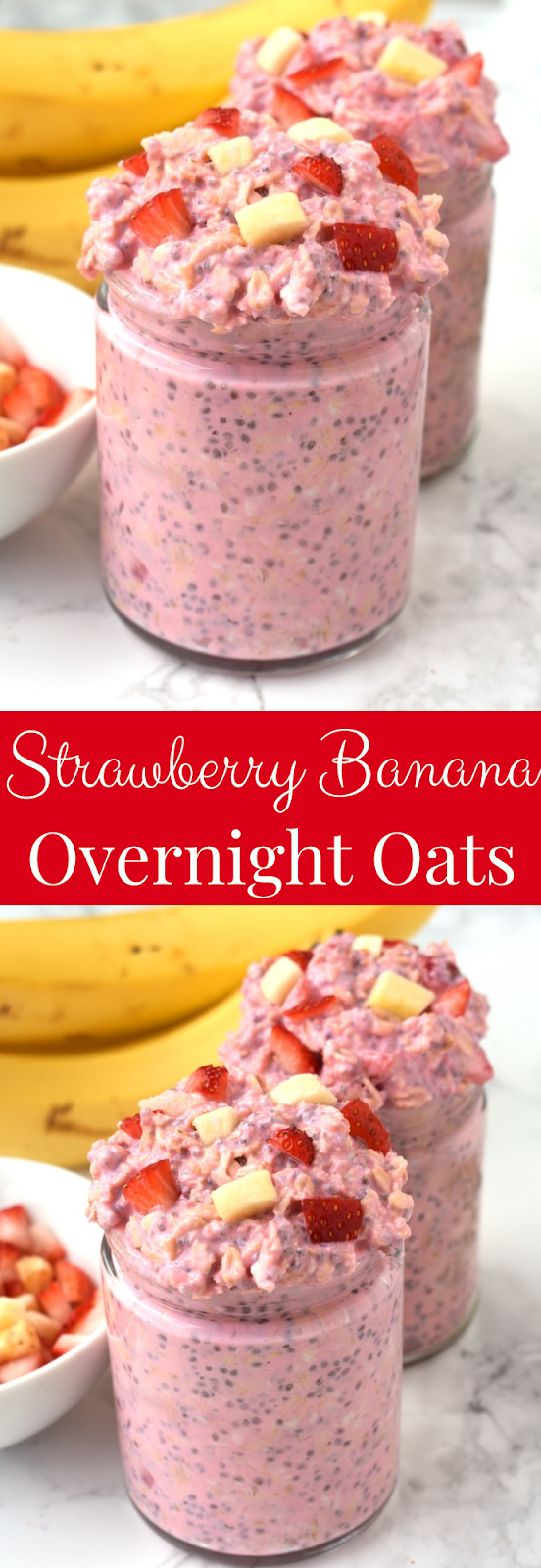 Strawberry Banana Overnight Oats recipe