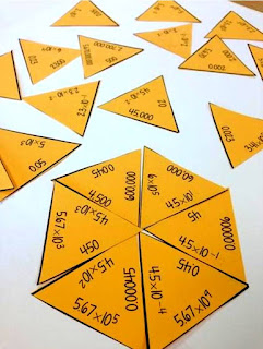 Scientific Notation Tarsia Puzzle from Math Dyal