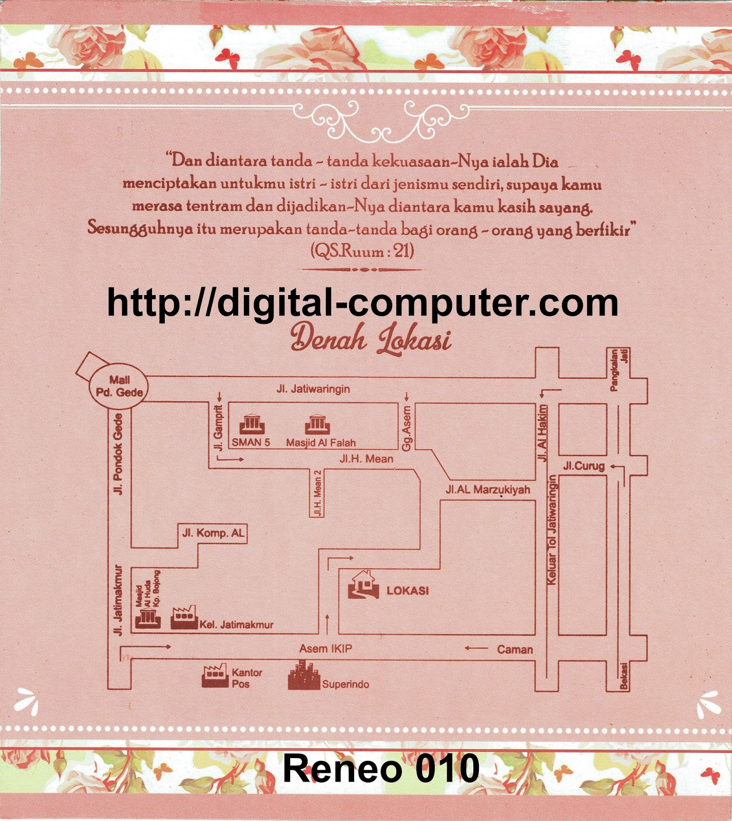 Undangan Softcover Reneo 010