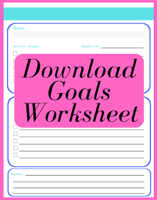 Downloadable goals worksheet