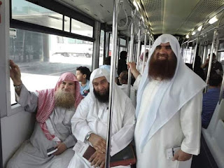 Dari Kiri : Syaikh Muhammad Musa Alu Nashr, Syaikh Ali Hasan Al-Halabi dan Syaikh Akram Ziyadah