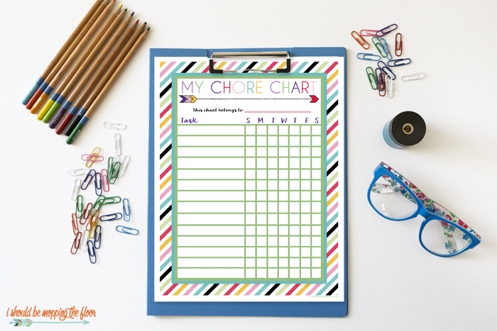 Free Printable Chore Chartsi should be mopping the floor