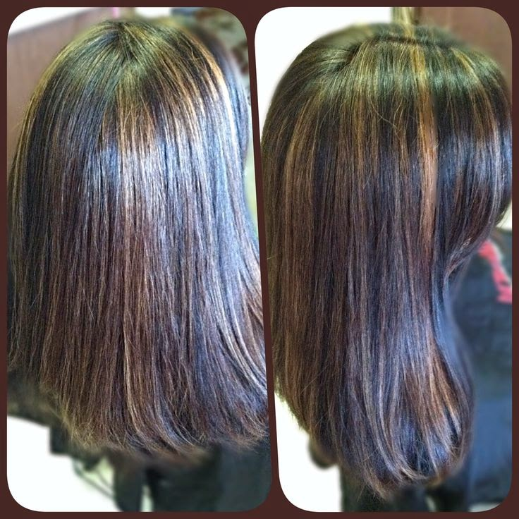 Dark Brown Hair With Auburn Highlights And Lowlights - Short Hair ...