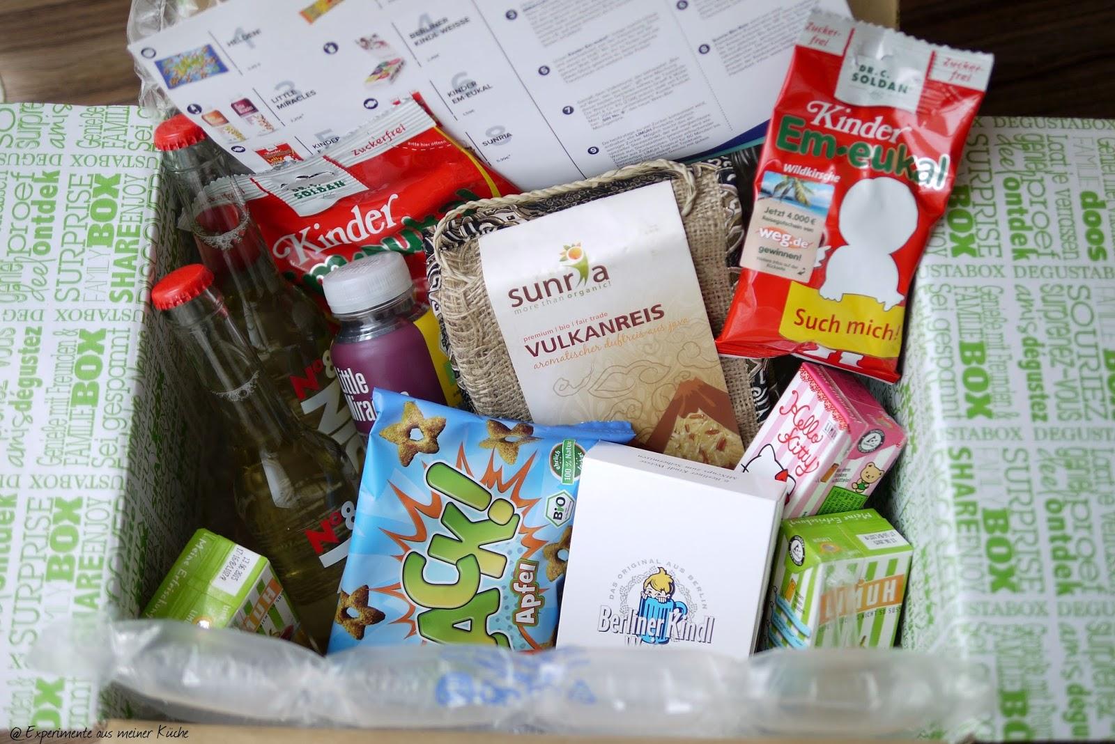 Experimente aus meiner Küche: Degustabox August