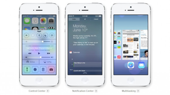 Apple iOS7 Control Center