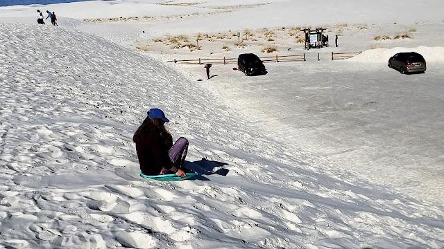 sledding white sands national park new mexico