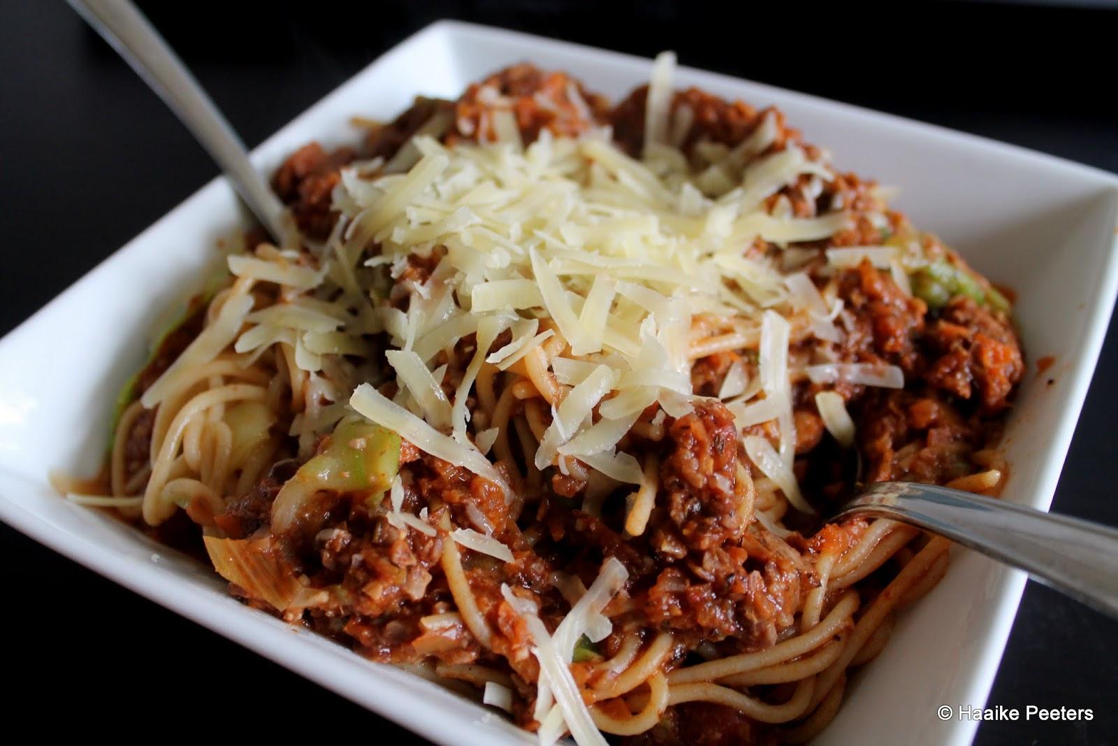 Veggie spaghetti bolognaise (aMuse Rouge)