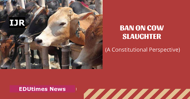 No Unauthorized And Uncontrolled Slaughtering Of Cattle Including Cows