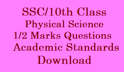 SSC/10th Class Physical Science Half Mark Question Bits Download /2020/01/SSC-10th-Class-Physics-and-Biology-Study-Material-Download.html